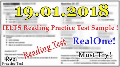 Ielts Reading Practice Test 2018 With Answers || 19.01