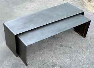 Table Basse En Acier : tables basse gigogne xl en acier ~ Melissatoandfro.com Idées de Décoration