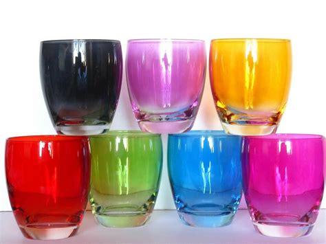 Schone Wasserglaser by Farbige Trinkgl 228 Ser Bunte Trinkgl 228 Ser 340 Ml Ebay