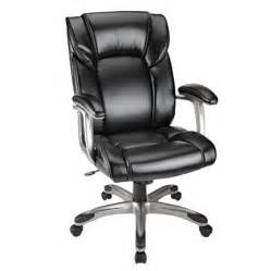 realspace salsbury high back chair black by office depot
