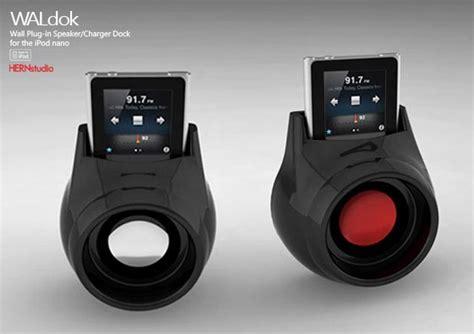 WALdok Wall Plug-In Dock Speaker for iPod Nano | Gadgetsin