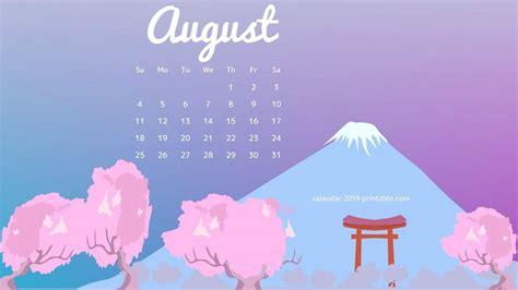 August 2019 Calendar Wallpapers - Wallpaper Cave