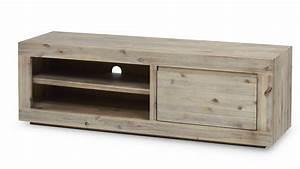Meuble Tv Bois Design : meuble tv bois massif clair ~ Preciouscoupons.com Idées de Décoration