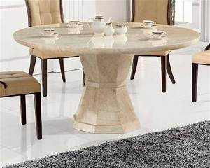 Vida living marcello marble large round dining table with for Choosing glass dining room tables for small space