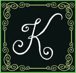 monogram letter quot k quot on letter k and fancy letters