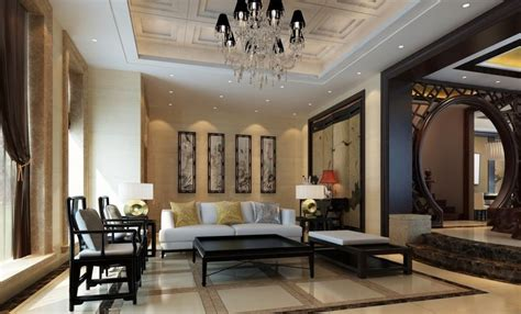 floors and curtains design classic living room 3d house