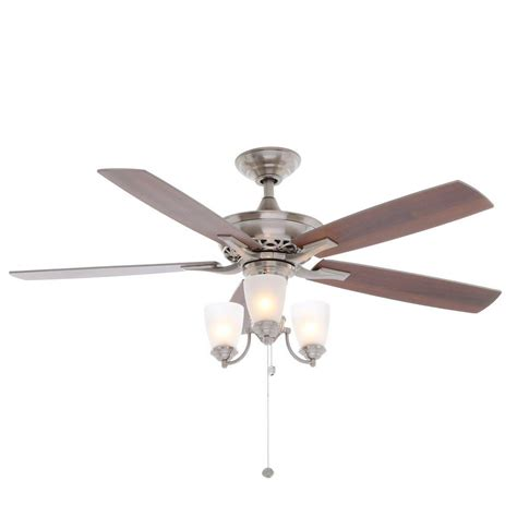 ceiling fan hardware kit hton bay havenville 52 in indoor brushed nickel
