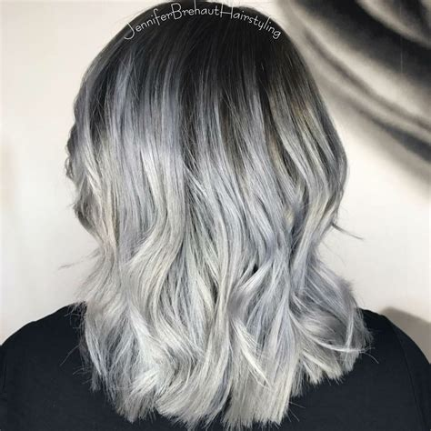 dark root  silver ends love  hair colour instagram