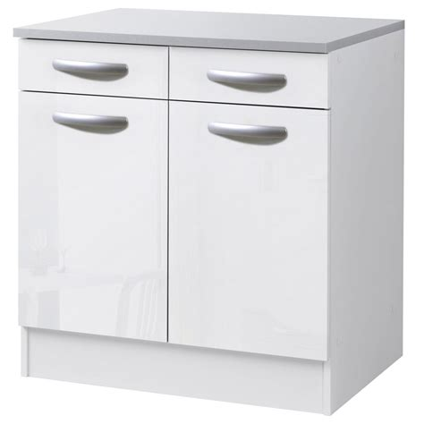 leroy merlin meubles de cuisine meuble de cuisine bas 2 portes 2 tiroirs blanc brillant