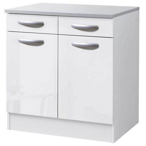 leroy merlin meuble de cuisine meuble de cuisine bas 2 portes 2 tiroirs blanc brillant