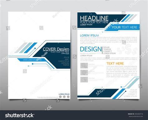 annual report brochure flyer design template stock vector