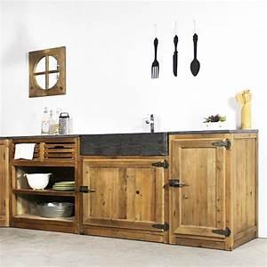 Poignée Meuble Industriel : meuble de cuisine 1 porte poign es frigo champetre made in meubles ~ Teatrodelosmanantiales.com Idées de Décoration