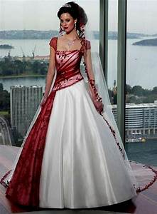 red and white wedding dresses with sleeves naf dresses With wedding dresses with red in them
