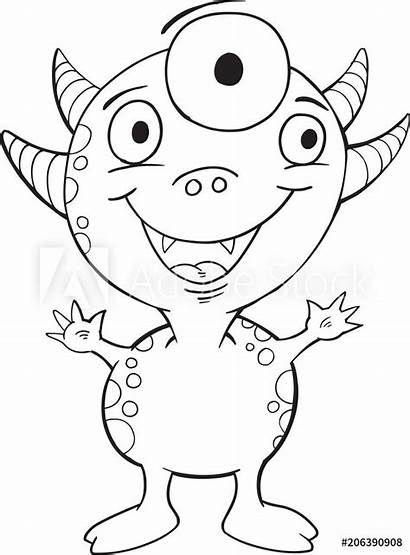 Monster Outline Clipart Monsters Drawings Google Coloring