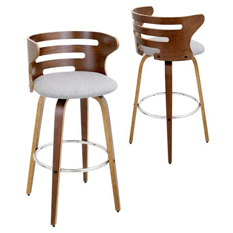 The site was set up to offer a variety of styles of kitchen and breakfast bar stools. Cosini Mid Century Modern Walnut Wood 29-inch Bar Stool   eBay