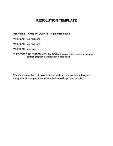 resolution template summer meeting annual conference oscia