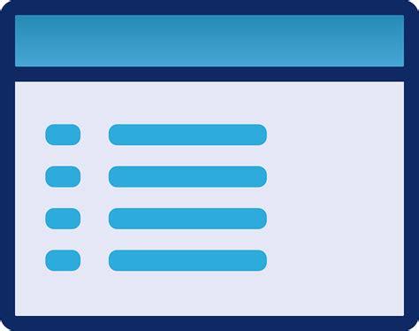 vector graphic menu gui interface template ui