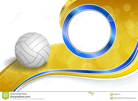background abstract sport volleyball blue yellow ball