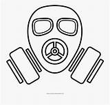 Gas Mask Coloring Transparent Clipartkey sketch template