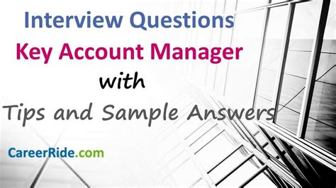 Account Manager Questions by Key Account Manager Questions And Answers For