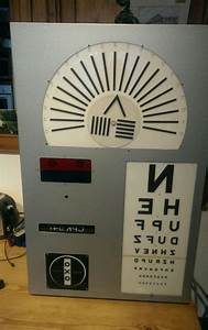Vintage Wall Chart Vintage Eye Test Chart Machine Used Chart Projectors