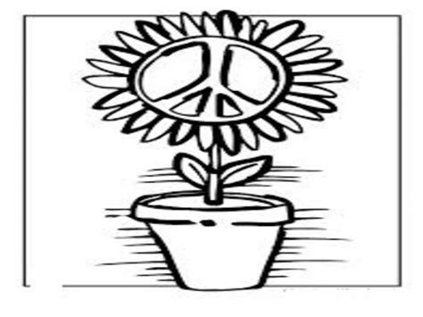 Simple And Attractive Peace Sign Coloring Pages