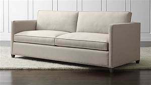 Dryden queen sleeper sofa crate and barrel for Sectional sofa bed crate and barrel