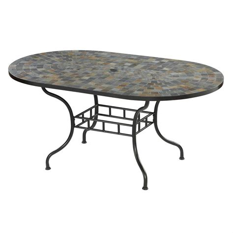 outdoor furniture tables only shop home styles stone harbor 39 5 in w x 65 in l oval