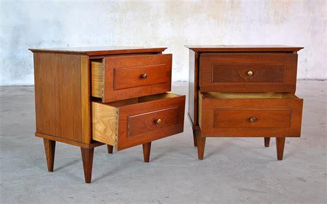 mid century modern nightstands select modern pair of mid century nightstands side or