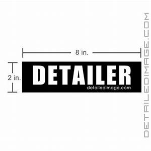 detailer sticker 2quotx8quot free shipping available With kitchen cabinets lowes with handicap sticker application