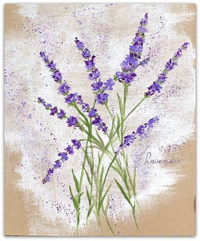 Lavender Paint Flowers Easy Flower Painting Watercolor