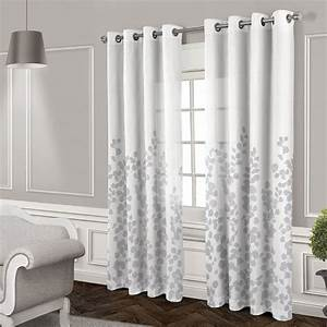 Wilshire sheer grommet curtain panel white 84 in at for Grommet curtains with sheers