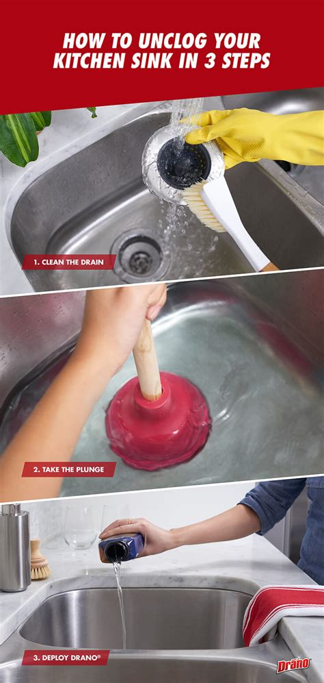 how to unstop a kitchen sink how to unclog your kitchen sink in 3 steps drano 174 9593