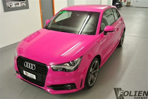 light pink audi foliendienst garantiert foliert