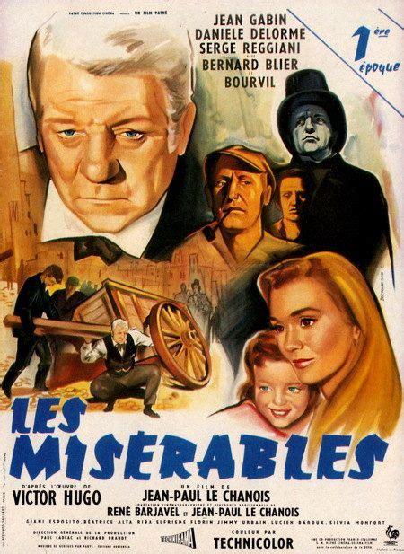 jean gabin jean valjean les mis 233 rables fran 231 ais 1958 film classique avec jean