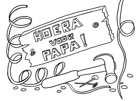 Kleurplaat Vader by Kleuren Nu Hoera Voor Papa Kleurplaten