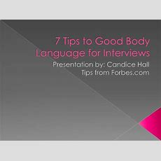 7 Tips To Good Body Language For Interviews