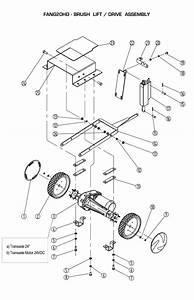 Brush Lift    Drive Assembly