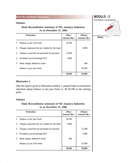 sample bank statement templates   ms word