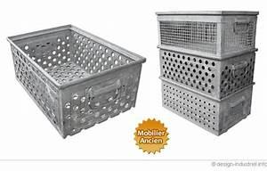 Caisse Metal Rangement : bac de rangement en acier galvanis ~ Teatrodelosmanantiales.com Idées de Décoration