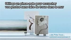Accrocher Un Tableau Sans Faire De Trou : l 39 astuce pour accrocher vos photos sans faire de trous ~ Zukunftsfamilie.com Idées de Décoration