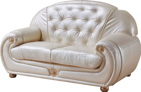 Ivory Leather Sofa And Loveseat by Giza Ivory Italian Leather Loveseat