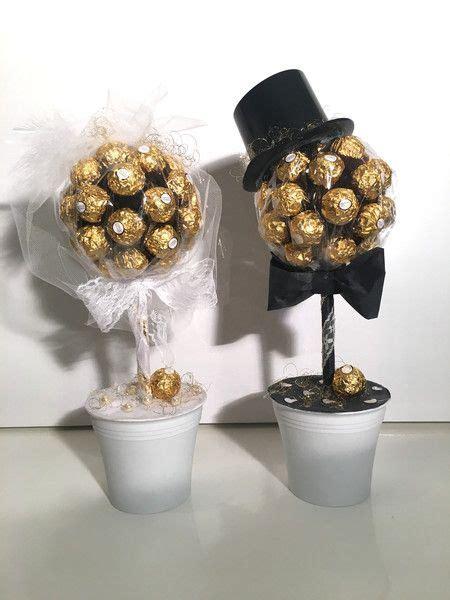 schokolade suessigkeiten  hochzeits rocher baeume braut