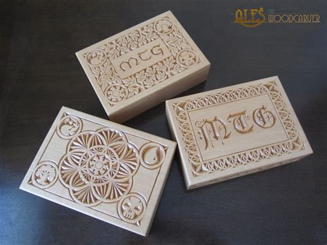 Magic The Gathering Edh Deck Box by Magic The Gathering Chip Carved Edh Deck Boxes By