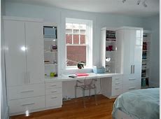Desk & Wall Unit Contemporary Bedroom Montreal by