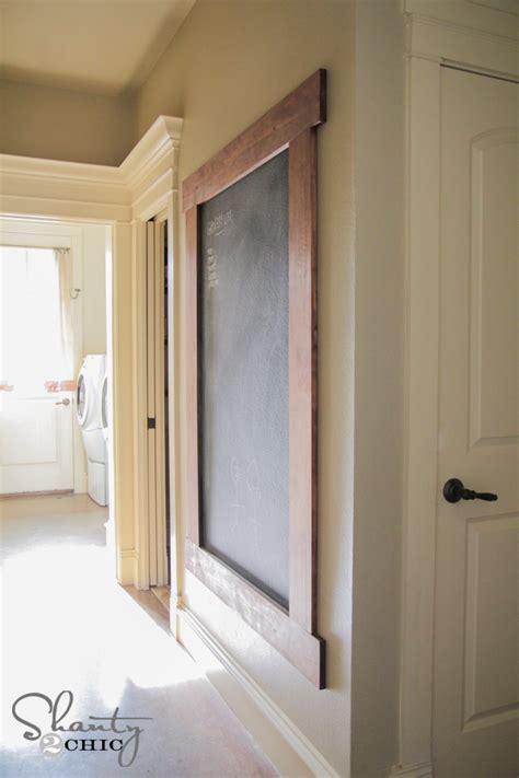 diy framed chalkboard wall shanty  chic