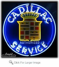 Cadillac Service Neon Sign only $299 99 Neon Auto Brands