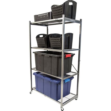 kitchen storage units on wheels origami general purpose steel shelving unit with wheels 8628