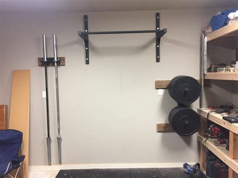install pull up bar in garage diy garage pull up bar stud bar ceiling or wall