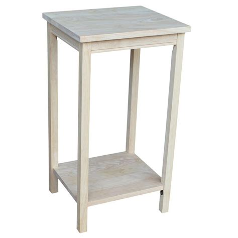 28 inch high end table international concepts portman unfinished end table ot 42